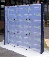 8ft/10ft 8ft/10ft backdrop pop up stands display with graphics for exhibition