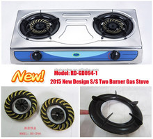RD-GD094-1 2015 New Model 2 burner Stainless steel gas cooker gas stove