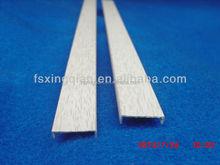 decorative aluminum sheet / brushed anozided extruded profile aluminum edge banding