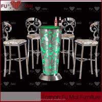 Top grade china innovation products PVC with glass led bar table