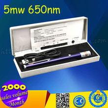 5mw 650nm Red Laser Beam Single-point USB Rechargeable Laser Pointer Pen