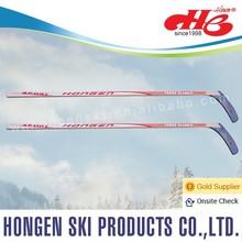 2015 Hongen composite ice hockey stick--laminated wood shaft, fiberglass blade