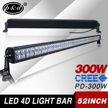 12v underwater waterproof 52inch 300w cre e rechargeable battery operated led light bars