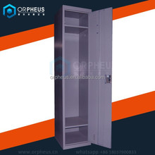Export cheap and fine industrial cabinets used metal wardrobe single door steel locker for hanging clothes