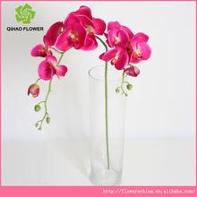 2 cabeza de plástico orquídea artificial arreglo floral para guirnalda