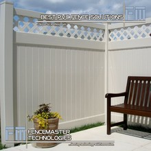 vinyl privacy fencing with lattice top