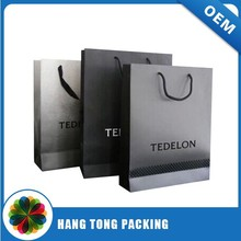 fancy carry package folder paper bag shopping paper bag printing in China