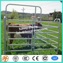 Powder Coated Frame Finishing and Metal Frame Material Heavy duty livestock farm yard cattle metal fence panel