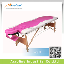 Acrofine cheapest wooden massage table Anji-II with mixed colors