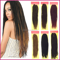 "Free Shipping Senegal Twist Braid Hair Extension 18"" 95g 100% Kanekalon Fiber Crochet Braid Hair Twist Long Curly Twist Braids"