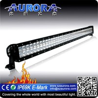 Hotsell high quality AURORA 40inch off road led light bar single row