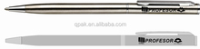 custom Logo stainless steel silver ballpen with different ink