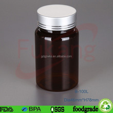 100cc Plastic PET White Tablets Bottle,Health Capsule Pharma / Pill Medicine PET Plastic Label Bottle With Screw Cap