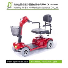 Handicapped electric power motor scooter