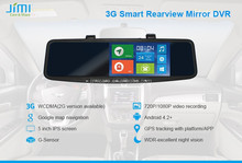 Car 3G WIFI Android gps navigation, auto dim rearview mirror DVR