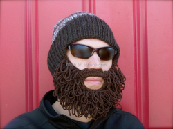 Adult winter ski beard hat
