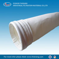 Nonwoven needle punched water and oil resistance PTFE bag filter