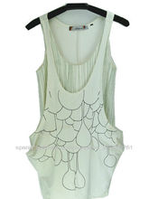 informal para damas elegante vestido de algodón orgánico y bambú