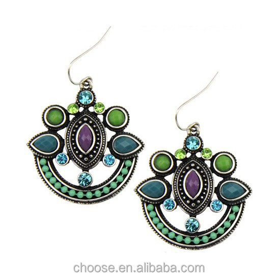 Lastest Unique And Gorgeous Tarry Turquoise Drop Earrings Design For Women