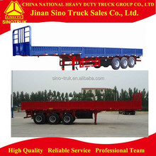 cheap flat bed semi trailer to transport 20ft 40ft container