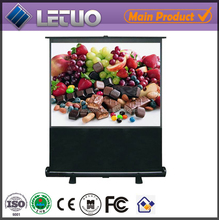 china manufacturer protable floor standing pull down 120 inch projector screen