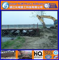 Large Span Prefab Structural Steel Bailey Bridge, Portable Bridges, The Steel Truss Bridge