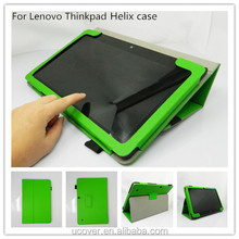 For Lenovo ThinkPad X1 Helix ultrabook tablet stand leather folio case cover