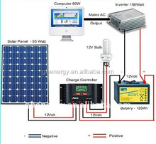 5KW off grid independent Solar PV System with full certificate Solar Panel Kits
