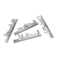 Hollow out design stainless steel creative drawing ruler