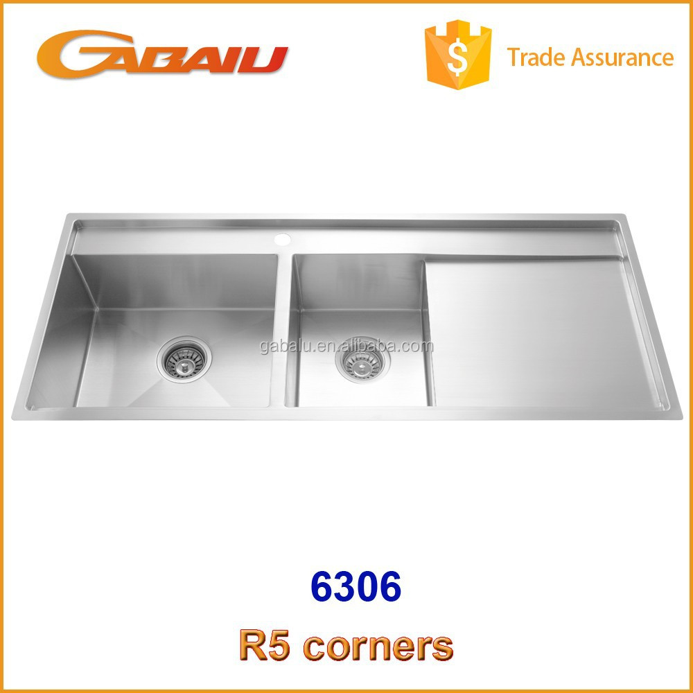 ... High End Quality Handmade Double Bowl SUS 304 Stainless Steel Kitchen
