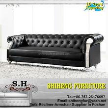 Home Use Chesterfield Sofa Genuine Living Room Leather Sofa Set A981