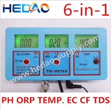 2015 Best China Supplier Bench pH/ORP/EC/CF/TDS Temp Meter Digital PH Meter