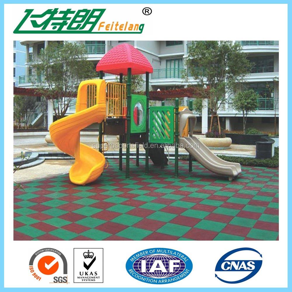 2015 Rubber Mat Outdoor Rubber Flooring Outdoor Playground