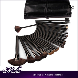 New product 32pcs makeup brush eyelash brush black bag black make up brush