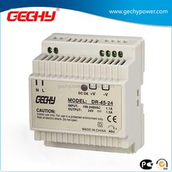 DR-45 series 5v,12v,24v,Din Rail type Switching Power Supply