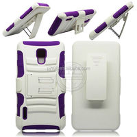 3 in 1 heavy duty kickstand hybrid combo case for Pantech Perception R930L