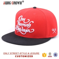 cheap custom embroidery cap flat bill design your own snapback hat
