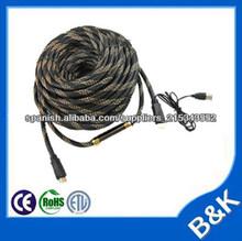 10pc 50m hdmi 1.4 a BNC cable de 3,5 mm jack de audio + hdmi cable