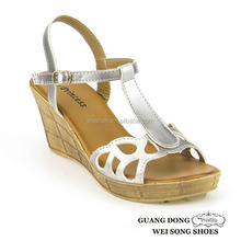 2015 good quality best price hollow out upper design ankle strap buckle adjustable lady high heel fancy sandal