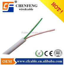 High Quality 2 cores flat telephone cable with FOB price extension cord wire
