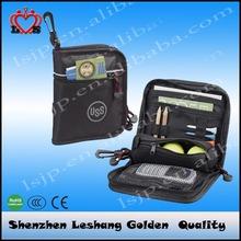 2015 Best selling golf ball bag new design golf valuables pouch, golf bag