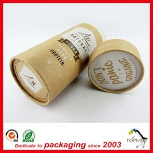 2015 Custom top quality with print logo paper cardboard tubes for jewelry / tea / food/ cosmetic
