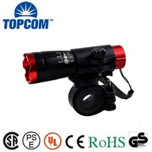 Water Resistant Aluminum Body Zoomable Bike Light Bicycle Flashlights With Holder