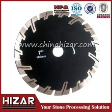T shape saw blade with protective teeth dry and wet cutting