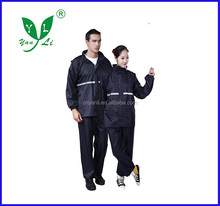 rainproof reflective adult rain coat