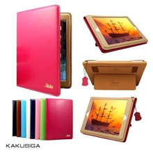 Kaku professional smart cover for ipad mini/mini 2 standing leather case made in china