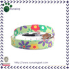 Colorful Flowers Printed Canvas Dog Collar for Sale