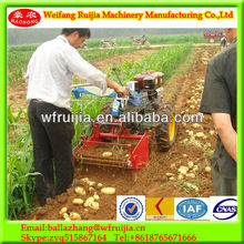 Best price radiator air-cooled system mini walking tractor with harvester, Used for potato, sweet potato, garlic harvest