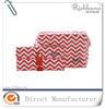 custom printed chevron makeup bag wholesale