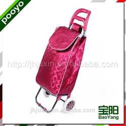 juxin shopping cart with chair foldable recycled bags waterproof